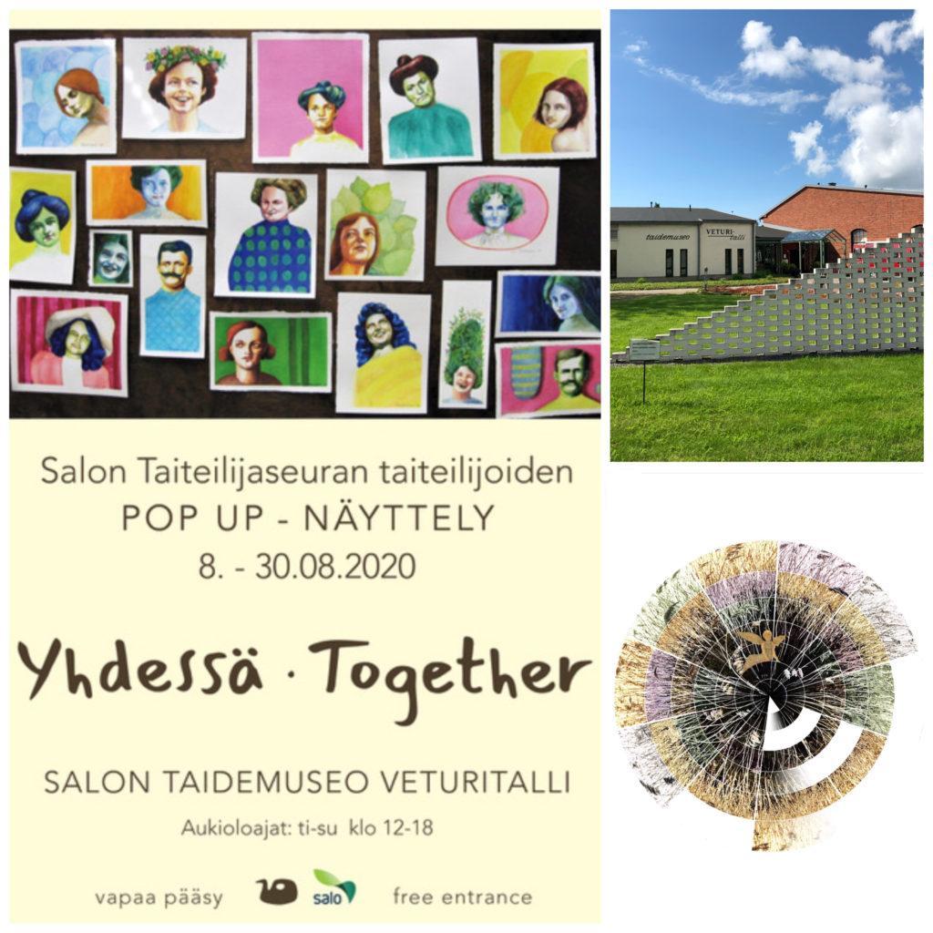 DJK Salon Taiteilijaseuran näyttelyssä Salon Veturitallissa elokuussa