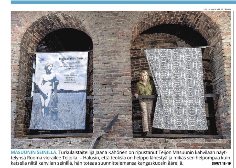 Lehdistössä Teijon Masuunin ''Romam adire Teijo'' näyttelystä